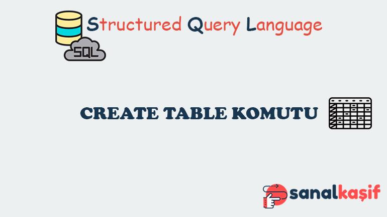 Sql Create Table Komutu